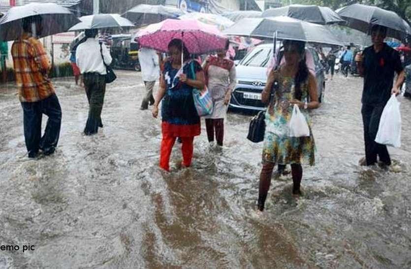 heavy rain alert today जबलपुर में भारी बारिश के चेतावनी, बरगी बांध से छोड़ा पानी तो नर्मदा में बाढ़ जैसा नजारा