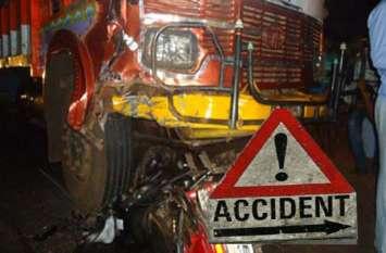 दर्दनाक हादसा: ट्रक से मारी बाइक को टक्कर महिला की मौत, पति कोमा में - video