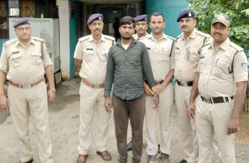 गांजा बिक्री करते तेलगवां बार्डर से पकड़ा गया आरोपी, जानिए पुलिस ने कैसे दी  दबिश
