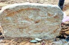 श्मशान भूमि की खुदाई मेें मिली 150 साल पुरानी रामदेवजी की मूर्ति
