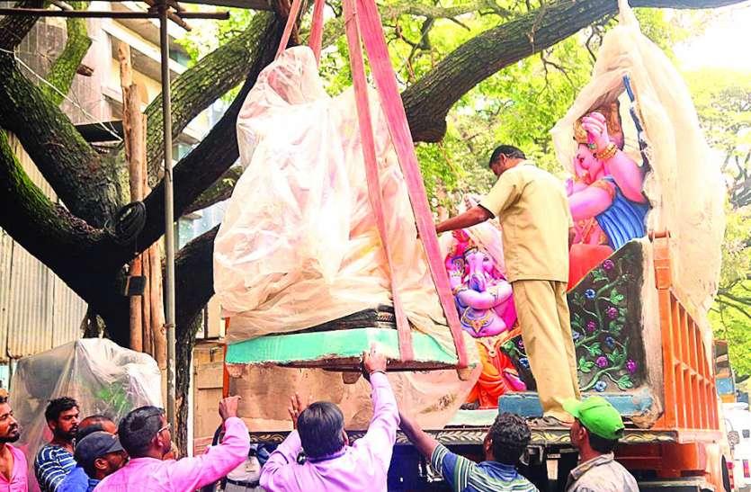 बीबीएमपी ने पीओपी निर्मित 281 मूर्तियां जब्त की
