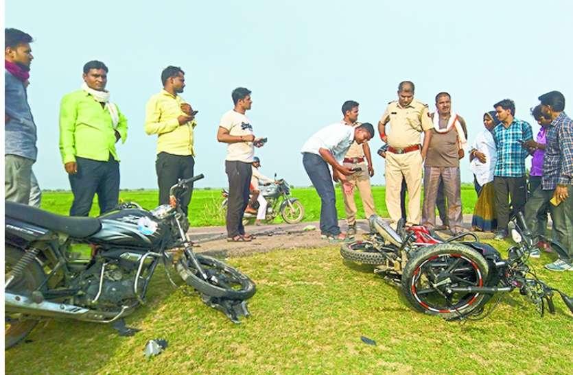 कोटा में 4 बाइकों में जबरदस्त भिड़ंत, मासूम बेटे की मौत, मां-बाप की हालत नाजुक, 8 जने घायल