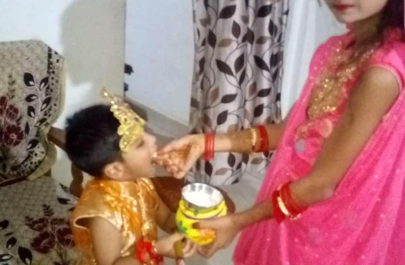 भजन कीर्तन के साथ मनाया कृष्ण जन्मोत्सव
