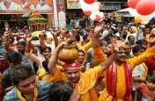 ब्रजधाम गोकुल में नंदोत्सव के अवसर पर कान्हा के जन्म की बधाई लेने का उमड़ा जनसैलाब