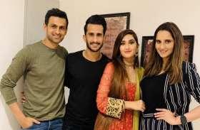 सानिया मिर्जा और शोएब मलिक ने दी हसन अली और सामिया आरजू को शादी की पहली दावत
