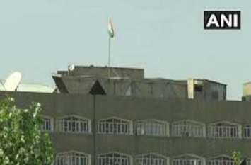 जम्मू-कश्मीर का झंडा राज्य सचिवालय की बिल्डिंग से हटा, अब सिर्फ तिरंगा