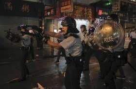 हांगकांग: लोकतंत्र समर्थक प्रदर्शन में भड़की हिंसा, 36 गिरफ्तार