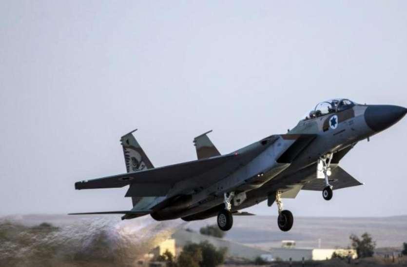 इजरायली वायुसेना ने हमास के कई ठिकानों पर की भारी बमबारी