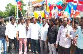 वेदारण्यम में आम्बेडकर की प्रतिमा तोडऩे के विरोध में प्रदर्शन