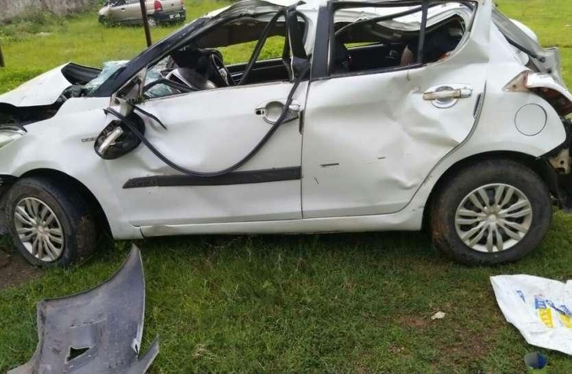 शहडोल के पूर्व जिला पंचायत अध्यक्ष की सड़क दुर्घटना में मौत, पुत्र सहित तीन बचे