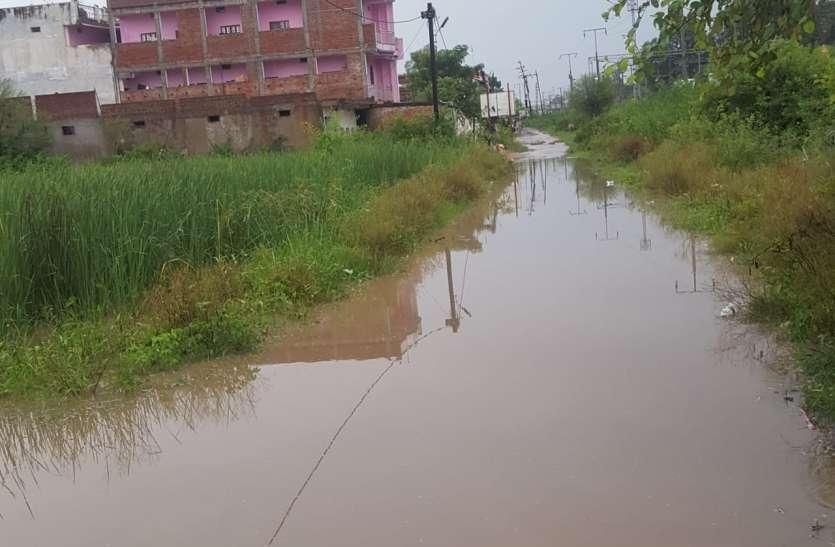 दो घंटे की झमाझम बारिश में शहर हुआ पानी पानी, निचले हिस्सों में पानी भराव