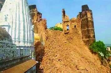 शेखावाटी के इस ऐतिहासिक किले का बुर्ज ढहा तो सकते में आ गए लोग