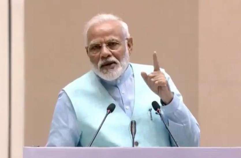 कांग्रेस मुख्यालय के सामने गरवी गुजरात भवन का पीएम मोदी ने किया उद्घाटन, बताया- नए भारत की सोच