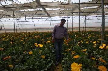 श्रावस्ती के आसिफ इंजीनियर की नौकरी के साथ कर रहे हैं फूलों की खेती, हर महीने कमा रहे हैं लाखों