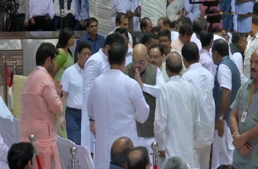 दिल्ली: अरुण जेटली की श्रद्धांजलि सभा में पहुंचे उपराष्ट्रपति नायडू व अमित शाह, PM नहीं हो पाए शामिल