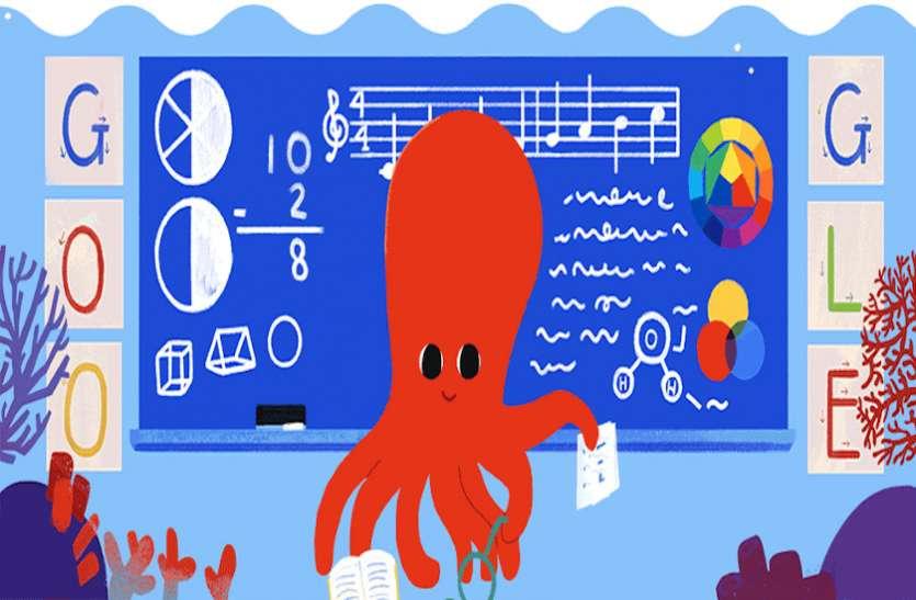 गूगल ने शिक्षक दिवस पर बनाया डूडल