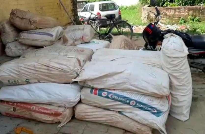 यूपी एसटीएफ और नारकोटिक्स की संयुक्त कार्यवाही में अयोध्या से चार करोड़ का गांजा बरामद