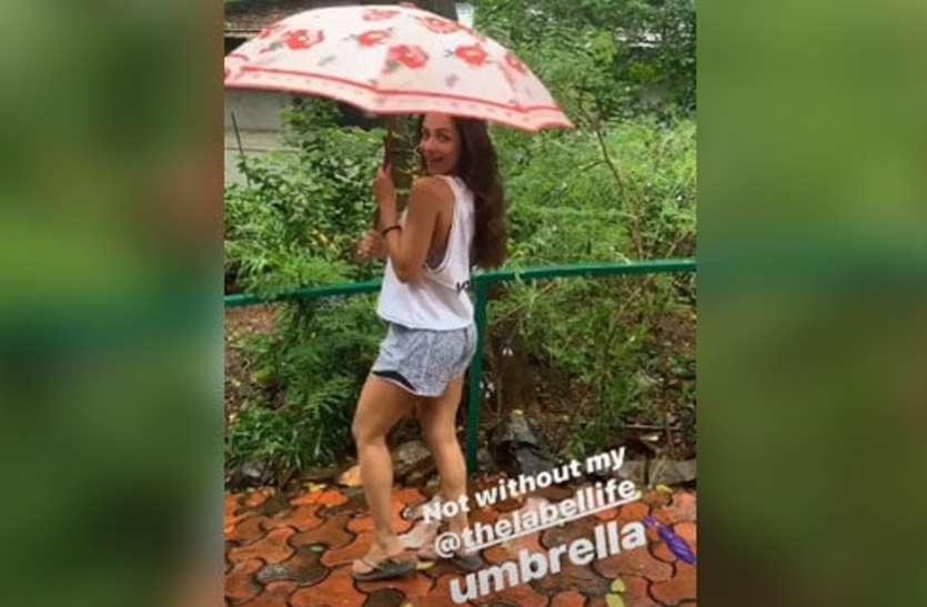 बारिश में यूं झूमती नजर आईं मलाइका अरोड़ा, वीडियो किया शेयर