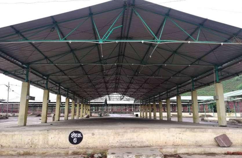 सिहोरा कृषि उपज मंडी में चार दिन से अनाज खरीदी बंद