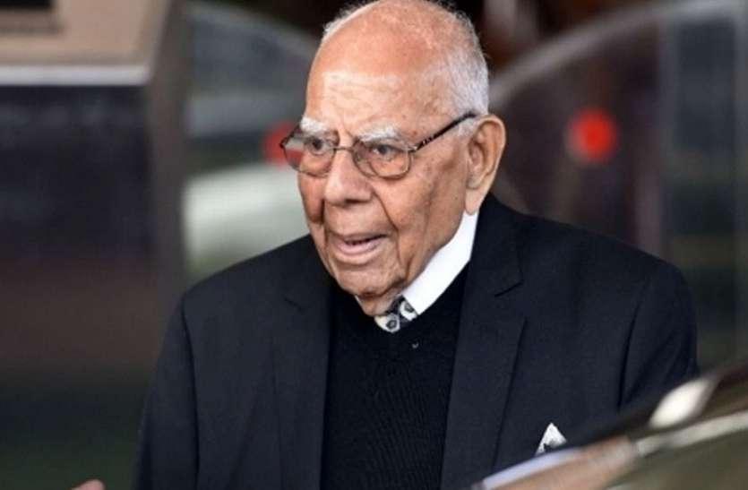पूर्व केंद्रीय मंत्री राम जेठमलानी का निधन, 95 साल की उम्र में ली आखिरी सांस