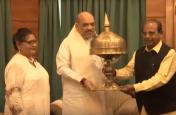 अमित शाह ने असम के राज्यपाल से की मुलाकात, देखें Video