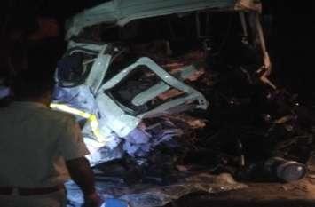 सड़क हादसे में चालक ट्रेलर की केबिन में फंसा, तीन घंटे की मशक्कत से बाहर निकाला, हुई मौत