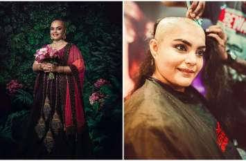 कैंसर पेशेंट्स के लिए इस मशहूर मॉडल ने मुंडवाए अपने बाल, बिना बालों के कराया फोटोशूट