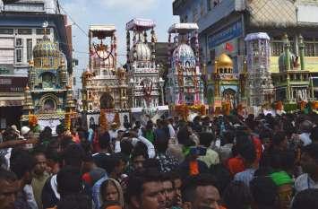 कर्बला में ताजिए सैराब, फतेहपुरिया चौपड़ पर हुआ रूहानी मिलन
