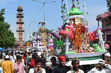 मातमी धुनों के बीच ताजिए हुए सुपुर्द-ए-खाक  देखें तस्वीरें