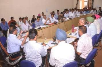 अनूपगढ़, घड़साना और केसरीसिंहपुर में छीजत 31 से बढकऱ 34 प्रतिशत होने पर जताई नाराजगी