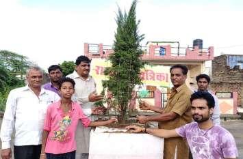 हरियाळो राजस्थान :  पर्यावरण प्रेमियों ने डिवाइडर पर पौधारोपण कर सुरक्षा का दिलाया संकल्प