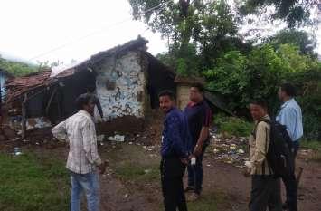 बारिश से गिरे 144 मकान, 18 मकान दो दिन में हुए जमींदोज