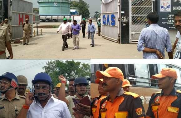 हिंदुस्तान पैट्रोलियम प्लांट आग - प्लांट के चारों तरफ बाउंड्री के किनारे हजारों सिलेंडर से लदे ट्रक बढ़ा रहे थे दहशत