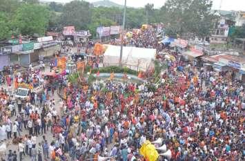 झालावाड़ में अनंत चतुदर्शी के जुलूस की चित्रमय झांकी