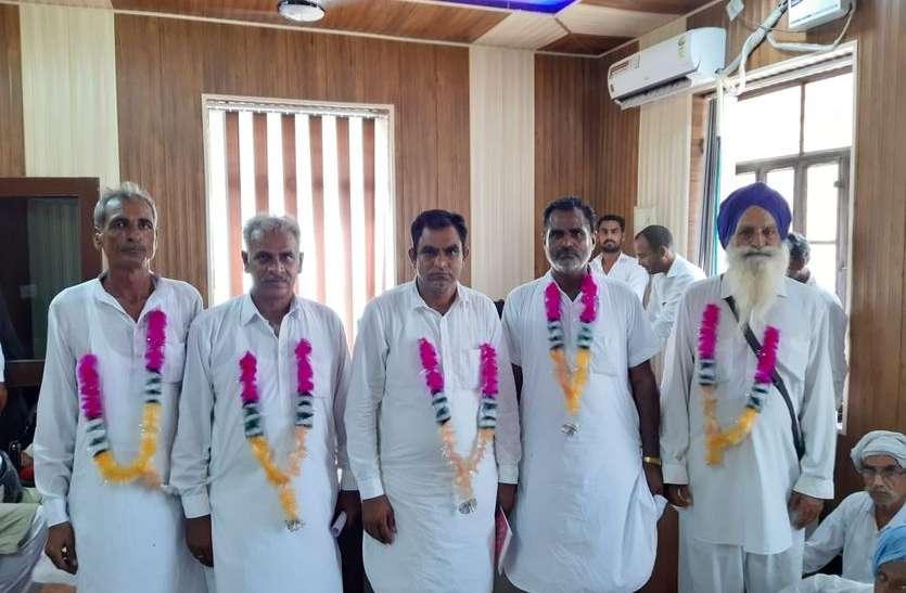 भाखड़ा नहर में जल उपयोक्ता संगम अध्यक्षों के चुनाव, पहले दिन पांच निर्विरोध अध्यक्ष बने, समर्थकों ने रंग-गुलाल खेलकर मनाई जीत की खुशी