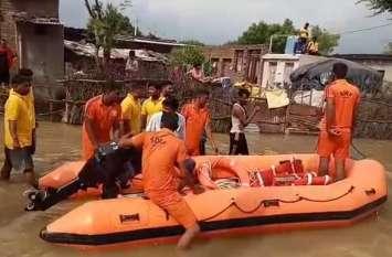 झालावाड़ में बाढ़ से कई घरों के सामान हुए खराब, 237 लोगों का किया रेस्क्यू, स्कूलों में सोमवार का अवकाश