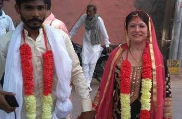 सात समंदर पार से आकर अमेरिका की महिला ने रचाई श्रीगंगानगर के युवक से शादी, देखने को उमड़ी भीड़