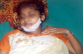 हाॅस्पिटल में मौत से जंग लड़ रही एक बेटी, सौतेली मां ने दिया था छत से धक्का, देखें वीडियो-
