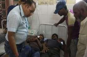 निर्माणाधीन छत गिरी, हादसे में 14 श्रमिक घायल