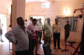 यूजीसी टीम ने लिया कालेज में खेल व्यवस्थाओं का जायजा