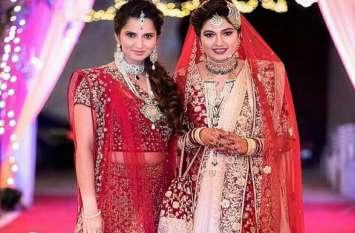 दुल्हन के लिबास में दिखीं सानिया मिर्जा की बहन, वह भी क्रिकेटर से करने जा रही हैं शादी