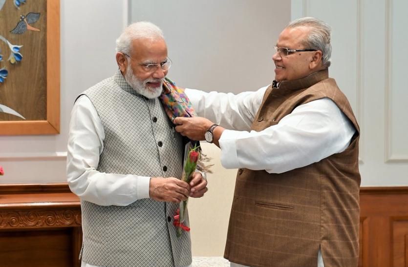 PM मोदी से मिले जम्मू-कश्मीर के राज्यपाल सत्यपाल मलिक, दिया यह बयान