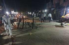पावटा में ट्रक ने मचाई अफरा-तफरी, सड़क पर दौड़ता रहा करंट