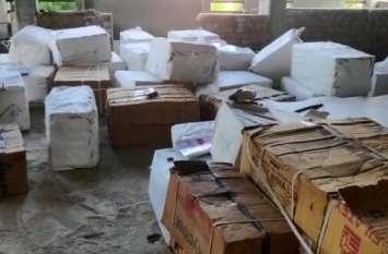 पुलिस ने ट्रांसपोर्ट के ट्रक से लूटा हुआ लाखों का माल किया बरामद
