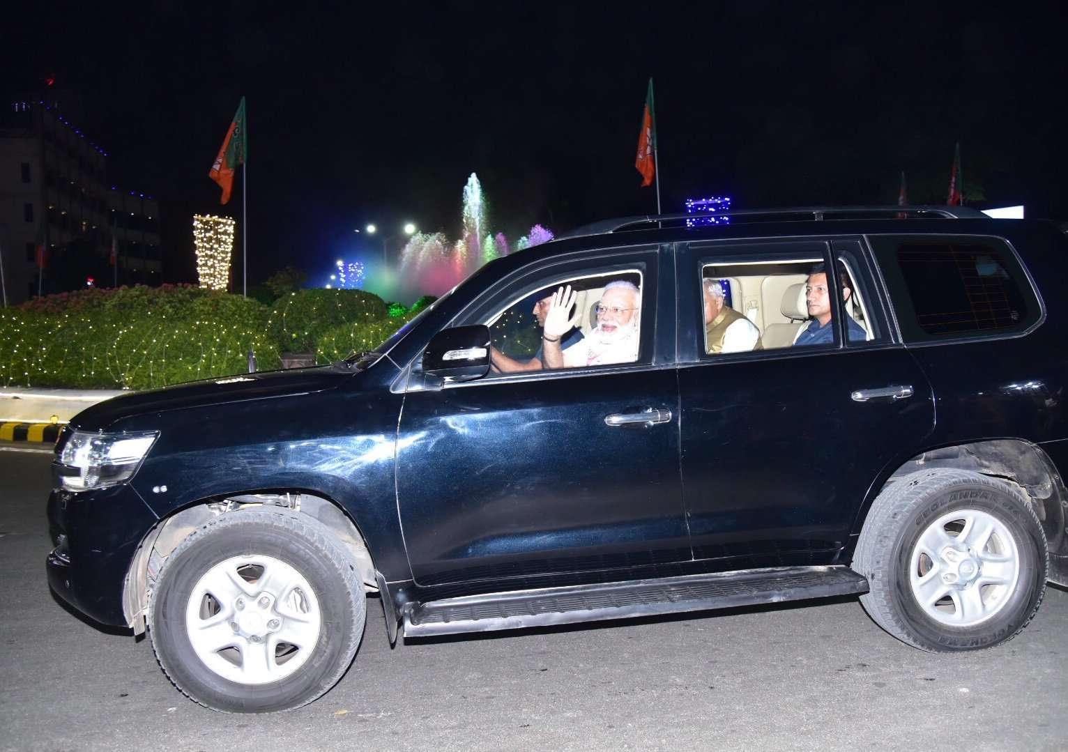 PM Narendra Modi on visit to Gujarat