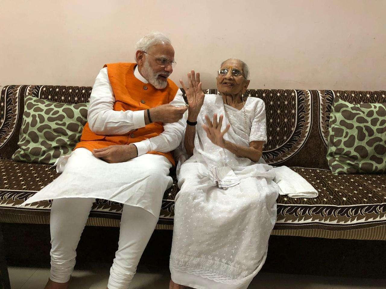 PM Narendra Modi with Hiraba