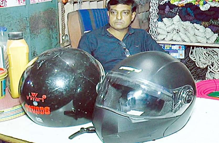 Ahmedabad hindi news : खरीद नहीं सकते तो पैसे जमा कर लेते हैं हेलमेट