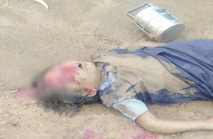 दिल दहलाने वाली तस्वीर: जिस बस से रोजाना जाती थी स्कूल उसी के नीचे दब कर छात्रा की हुए दर्दनाक मौत