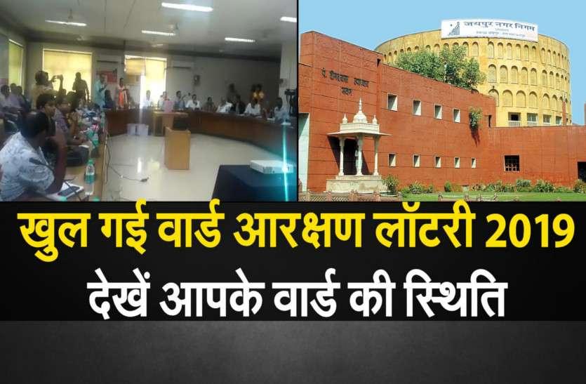 जयपुर: खुल गई नगर निगम चुनाव के लिए वार्ड लॉटरी,यहां जाने आपके वार्ड की स्थिति