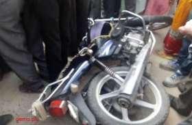 कंटेनर की चपेट से बाइक सवार दो किशोर की मौत, एक गंभीर घायल